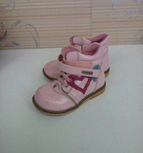 Ботинки на девочку демисезон