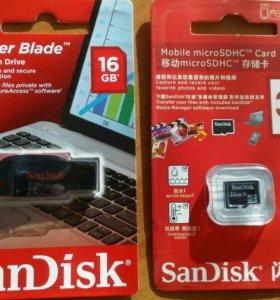 Флешки USB, SD