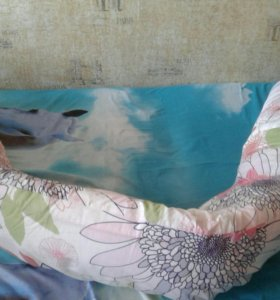 Подушка для беременных, новая с наволочкой