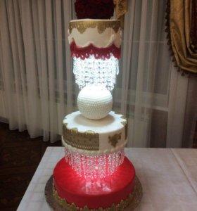 Свадебный огромный торт