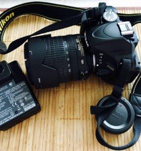 Nikon D5100 kit 18-105 mm.