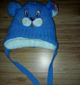 Зимняя шапочка на Мальчика с 8 месяцев