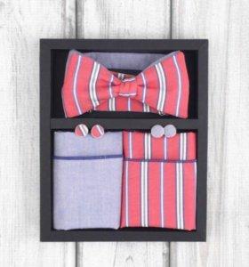 Набор #17 (галстук-бабочка, платок, запонки)