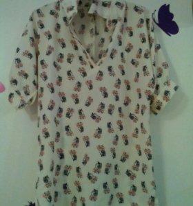 Блузка с совушками