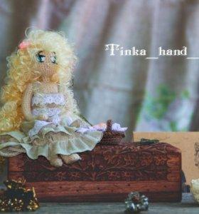 Авторская (амигуруми) кукла Лесная девушка.
