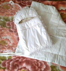 Конверт зимний на выписку с одеялом