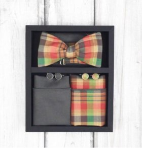 Набор #18 (галстук-бабочка, платок, запонки)