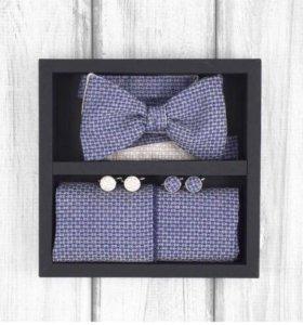 Набор #16 (галстук-бабочка, платок, запонки)
