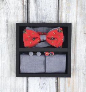 Набор #15 (галстук-бабочка, платок, запонки)