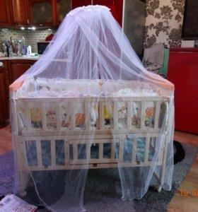 новая детская кроватка трансформер