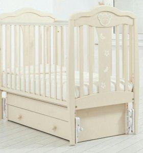 детская кроватка Мишель+держатель для балдахина