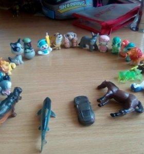 Игрушки из киндер сюрприз одна игрушка 5 рублей