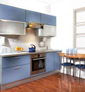 Кухонный гарнитур МДФ с фотопечатью