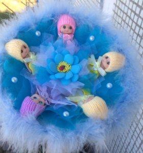 Букет с куклами