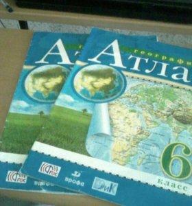 Атлас по географии 6 класс .