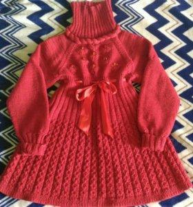 Шикарное вязанное платье.))))