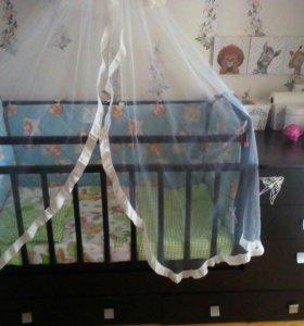Кроватка маятник с комодом