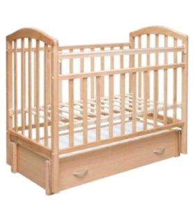 Детская кроватка Антел+матрас