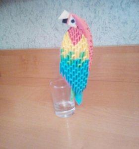Попугай ара из модулей