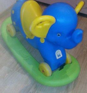 Слон качалка2в1