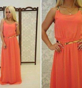 Шифоное платье в пол