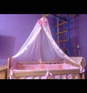 Кроватка-маятник с матрасом