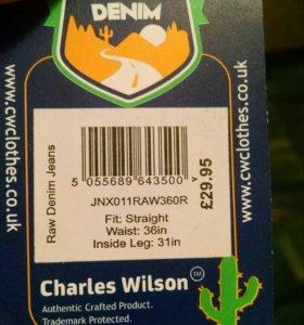 Джинсы 36R Charles Wilson