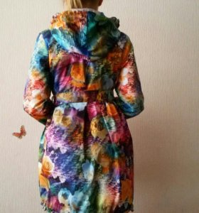 Пальто легкое(плащ теплый)