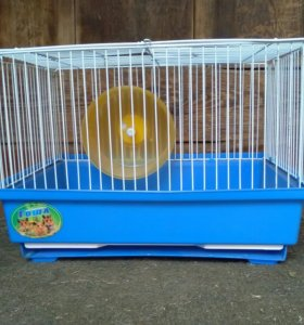 Клетка для хомячка с беговым колесом 21*29*20 см