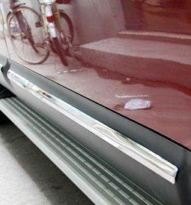 Nissan Qashqai (07-12) хромированные накладки