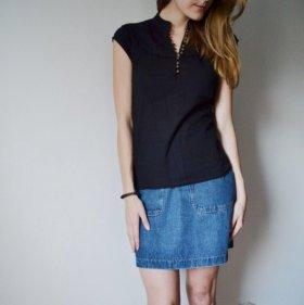 Черная блузка Colin's