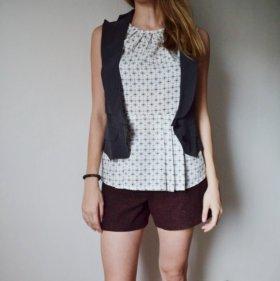 Легкая блузка с баской Mango