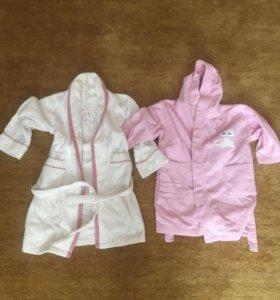 Махровые халаты на 4-6 лет