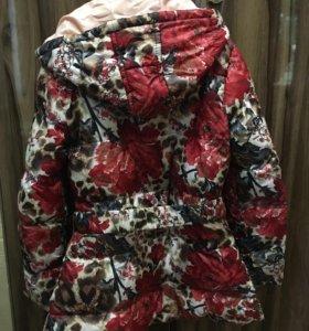 Куртка- пуховик облегчённый для девочки