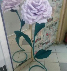 Гигантские цветы из бумаги.