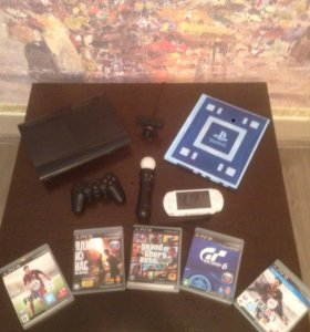 Sony PlayStation 3 Super Slim 500 гб +PSP+Move