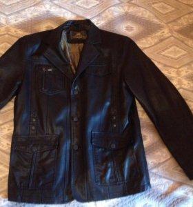 Пиджак мужской кожаный