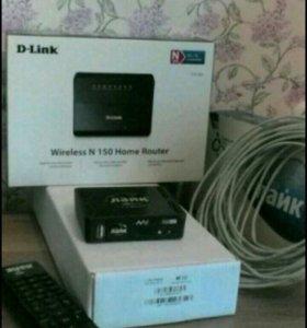 Комплект Wi-Fi D-Link DIR-300 + TV приставка Eltex