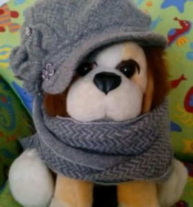 Зимняя кепка и шарф