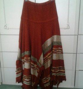 Комплект кофта плюс юбка, шерсть, размер 48