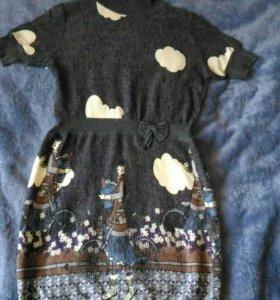 Платье тёплое 44