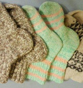 Носки шерстяные, 3 пары
