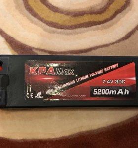 Акамулятор KPAMax 7.4v 30c 5200mAh Lipo