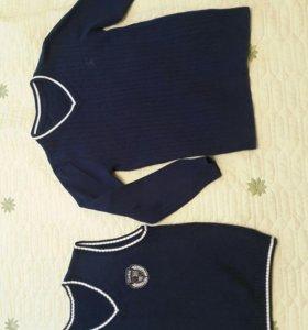 Жилет и пуловер.