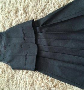 Форма школьная (жилет и юбка)