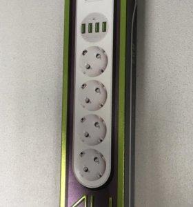 Удлинитель с USB портами