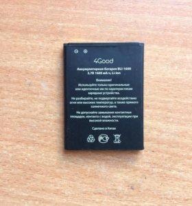аккумулятор 1600 мА⋅ч для телефона 4Good S450m 4G
