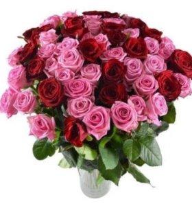 Букет 100 роз ( по самой низкой цене)