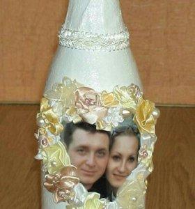 Бутылки на мероприятия, вазы