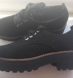 Ботинки школьные на платформе
